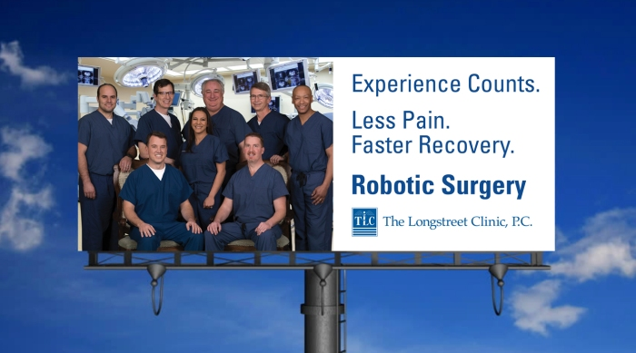 TLC Robotic Surgery billboard